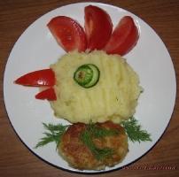 Детское блюдо Петушок-гребешок
